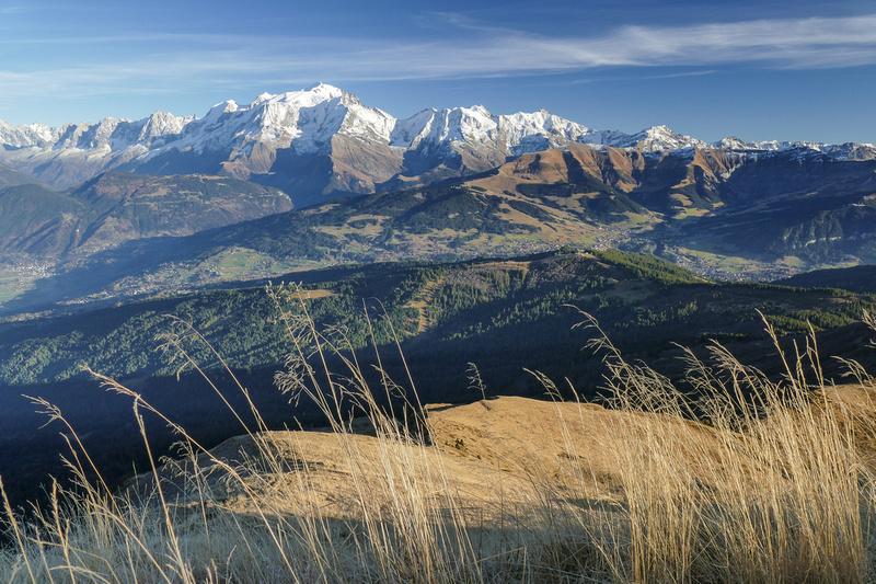 Megève, Saint-Gervais et le Mont Blanc en automne