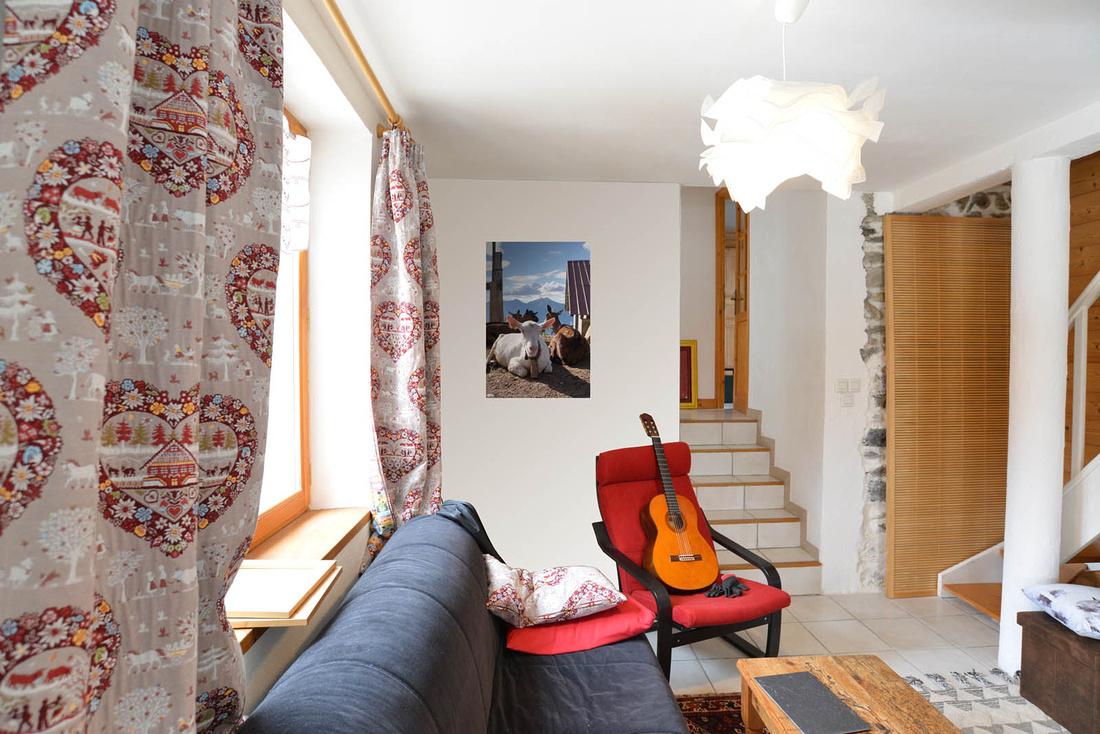 Tableau photo agriculture de montagne dans les Alpes : décoration d'un salon pour une maison située en Savoie