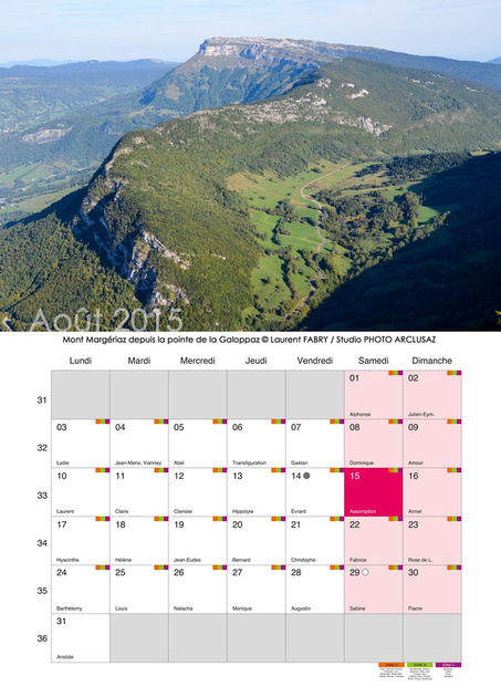 Photo arclusaz calendrier photo 2015 mural format a3 for Calendrier mural 2015